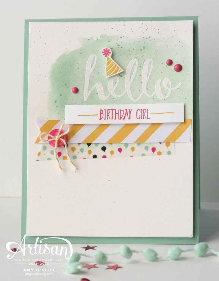SAB Hello Card by Amy O'Neill