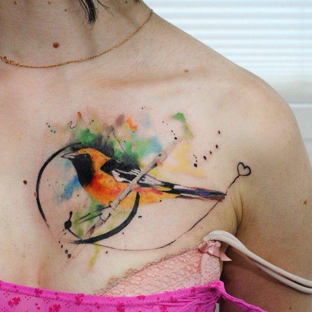 Fun today:) ✌ #watercolortattoo #abstracttattoo #watercolor #birdtattoo #tattoo #tattoos #tat #ink #inked #Kievtattoo #ukrainetattoo #tattooed #tattoist #coverup #art #design #instaart #instagood #sleevetattoo #handtattoo #chesttattoo #photooftheday #tatted #instatattoo #bodyart #tatts #tats #amazingink #tattedup #inkedup