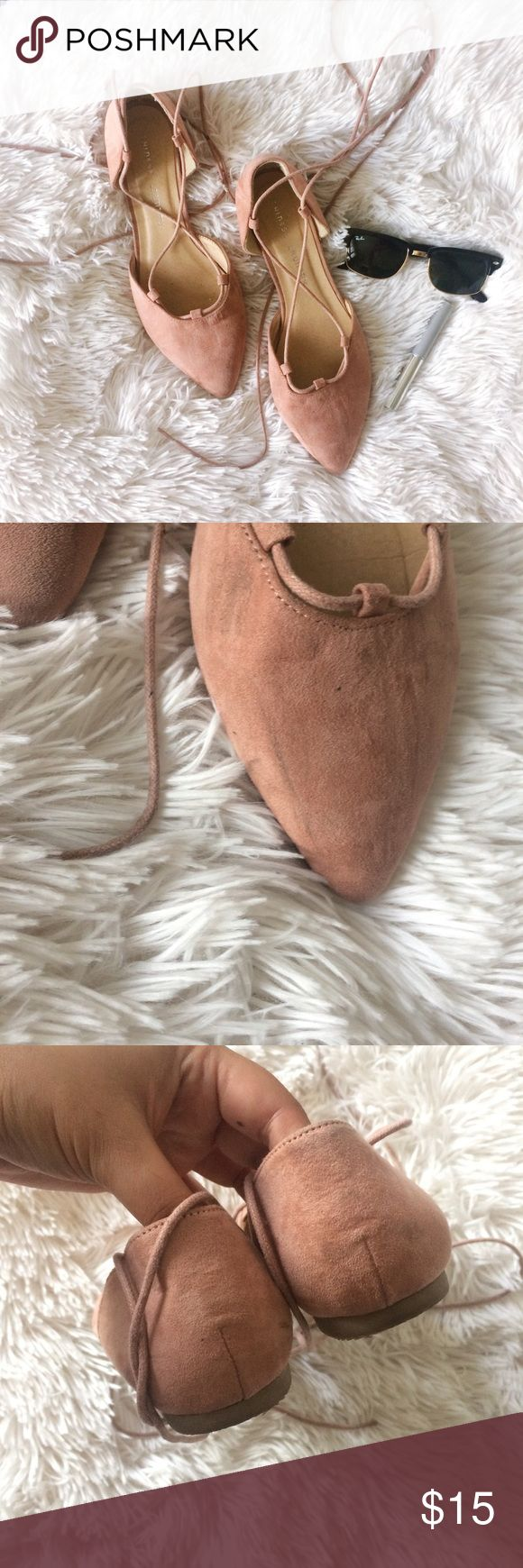 CHINESE LAUNDRY light pink d'Orsay la up flats Brand: Chinese Laundry Size: 9 Condition: good condition   *has some marks on instep of shoe, see photos  *wear on sole Chinese Laundry Shoes Flats & Loafers