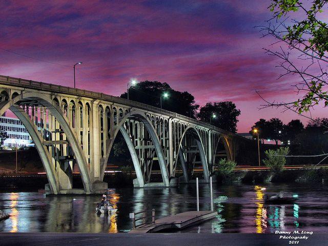 Coosa River Railroad Bridge at Gadsden AL | This bridge