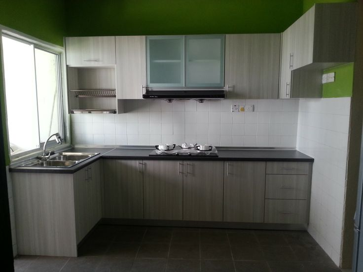 Gambar kumpulan desain kabinet untuk dapur terpopuler for Small kitchen kabinet