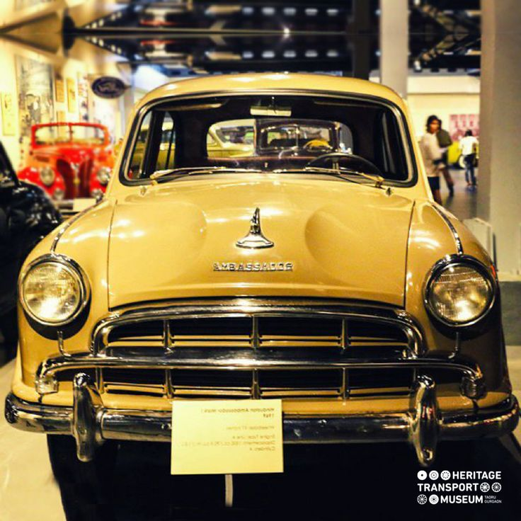 Produced by the Hindustan Motors, Ambassador Mark I became the symbol of the beginning of elite cars in India! #ambassador #vintagecars #vintagecollection #incredibleindia #vintagetransport #transportmuseum #gurugram #manesar