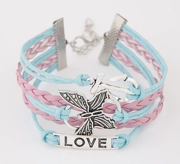 Pink&Blue Wrap Bracelet