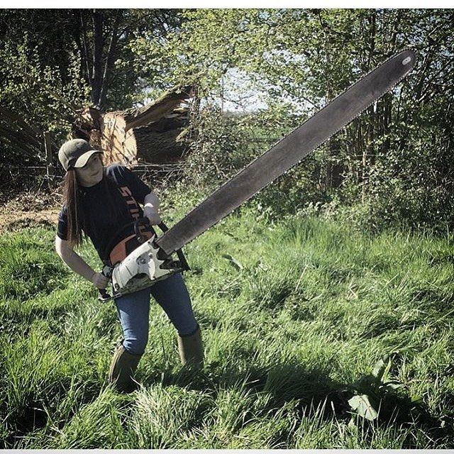 Best women of stihl images on pinterest chainsaw