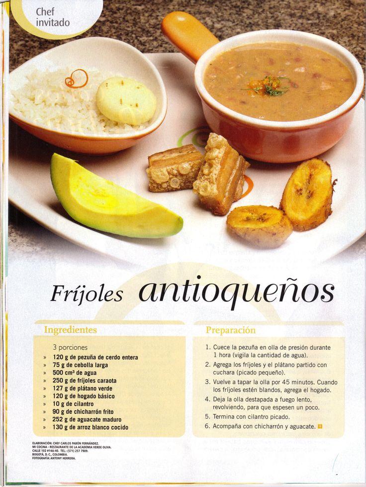 Receta Frijoles Antioqueños de Mi Cocina Restaurante - Academia de Cocina Verde Oliva