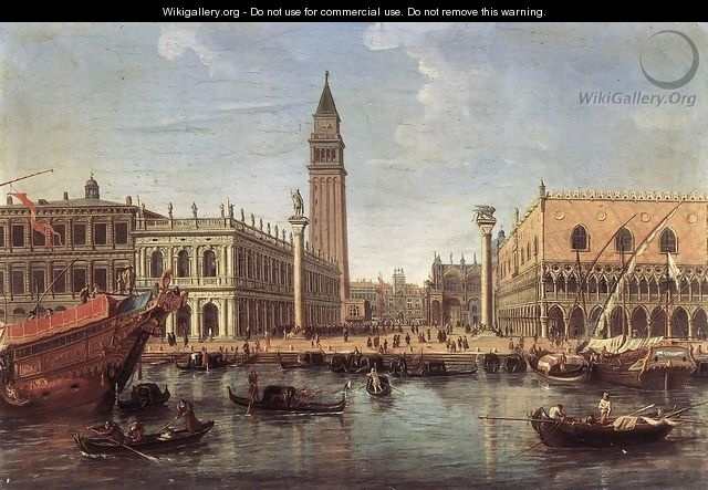 The Piazzetta from the Bacino di San Marco c. 1700 - Caspar Andriaans Van Wittel