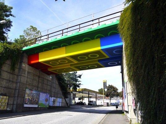 Street Artist Megx Paints German Bridge To Look Just Like Giant LEGO! | Inhabitat - Sustainable Design Innovation, Eco Architecture, Green Building: Street Artists, Artist Megx, Legobridge, Germany, Bridges, Design, Streetart