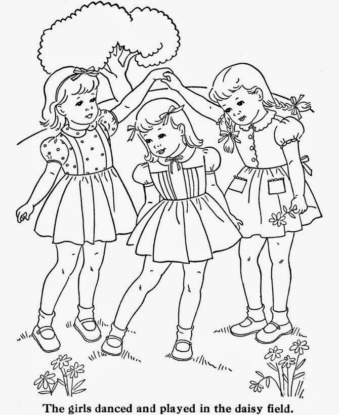 Soloillustratori Travaux Red Vintage Coloring Book Pages