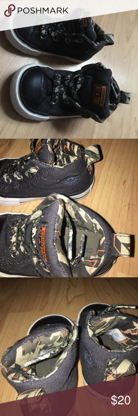 Denim camo converse Converse size 5 t  Like new condition Converse Shoes Sneakers