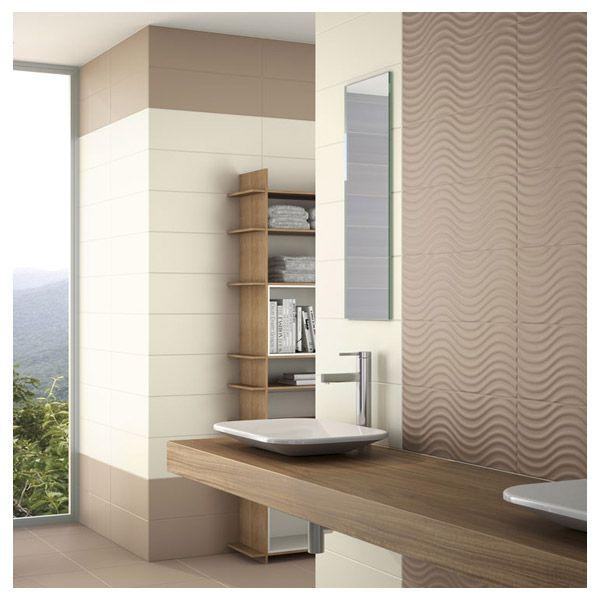 """La collection de carrelage de la collection """"Home"""" est un carrelage salle de bain raffinée. Il s'adapte facilement à votre salle de bain grâce à son panel de couleurs disponible. Ce carrelage peut tout aussi bien s'adapter dans toutes pièces de votre habitation. Ici le carrelage Home couleur Earth."""