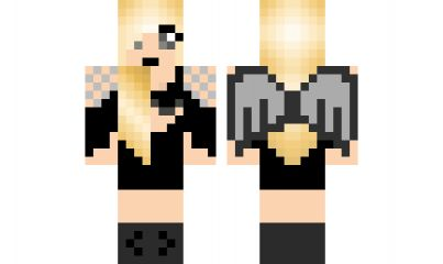 if your that type which i dont know how to spell this is the best minecraft girl skin for you! <3