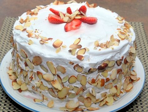 Italian Rum Cake (with Zabaglione filling). Link has recipes for Italian Sponge Cake and Zabaglione (Marsala Custard)