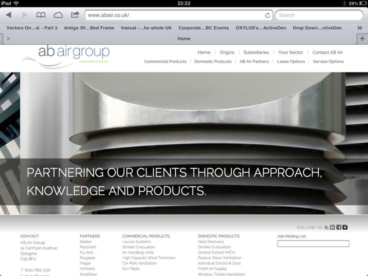 Latest website and brand launch for AB Air Group. See more at www.abair.co.uk