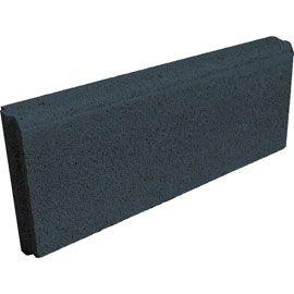 Bordure droite béton 50 x 16 cm noir