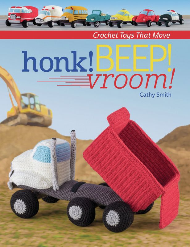 My new book, 8 crocheted vehicles with wheels that actually turn.