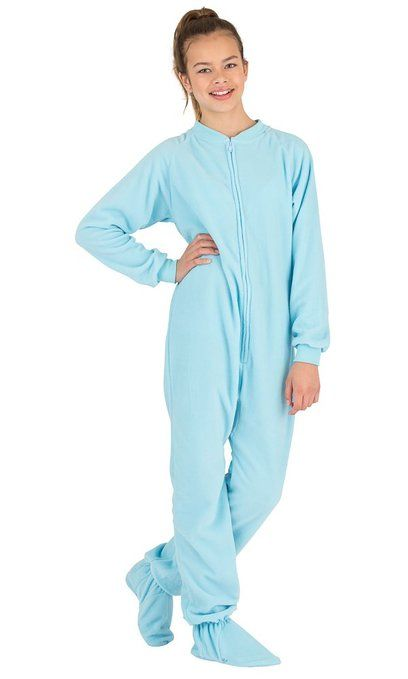 Michael Costume Footed Pajamas Baby Blue Kids Fleece