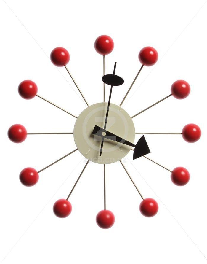 Replica George Nelson Ball Wall Clock - Red | ZUCA | Homeware, Chairs, Replica…
