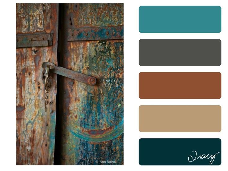 rusted door by ©ann raine colour palette