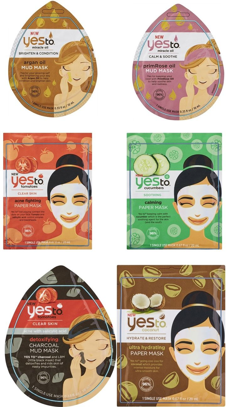 Yes to Introduces New Sheet Masks and Mud Masks Summer 2016