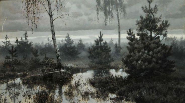 Józef Rapacki (1871-1929), Mgły poranne, 1909 r., olej na płótnie