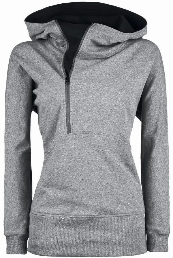 Super cute grey zip-up hoodie