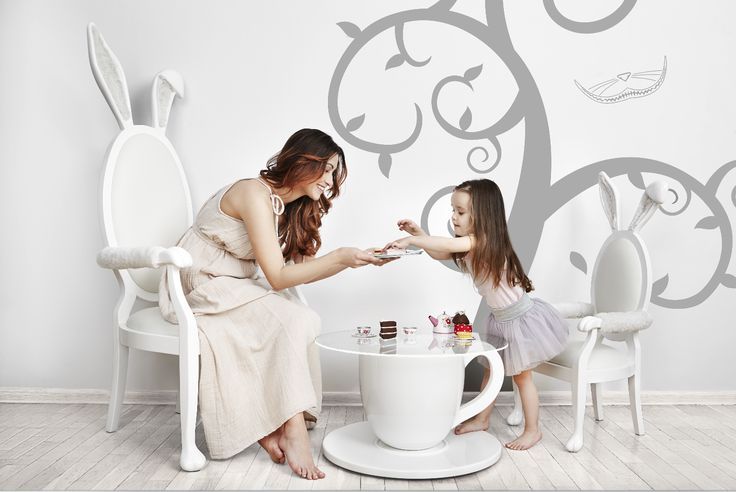 TEA-TIME TABLE, BUNNY CHAIR & BUNNY CHAIR Jr. from the Alice Collection by BARSTE DESIGN. #furniture #aliceinwonderland #barste #barstedesign #luxurykids #baby #design #happiness #inspiration #luxury #dream #babyshower #kidsroom #babyroom #luxurydesign #decorideas #luxuryinteriors #kidsdesign #dreamroom #kidsbedroom #kidsfurniture #babydesign #babyfurniture #kidsroomideas /www.barste.com