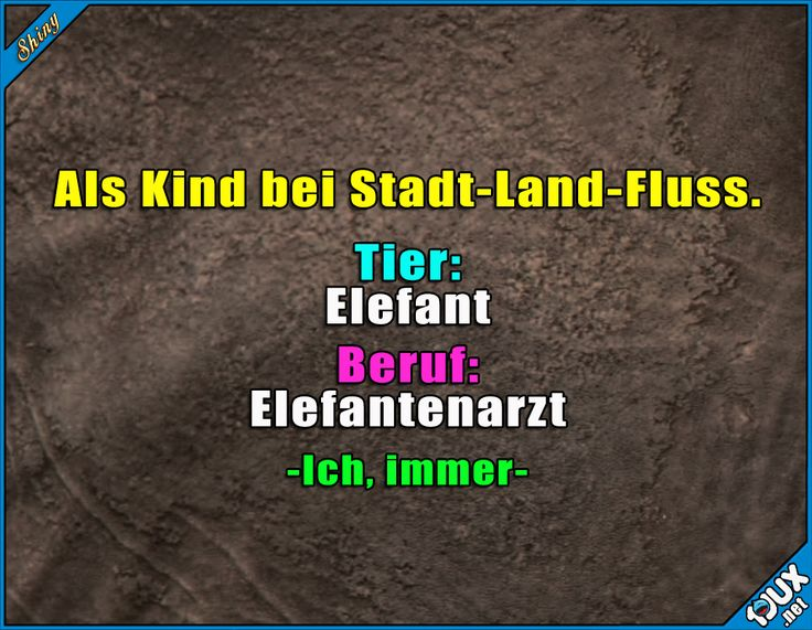 Oder Elefantenzüchter ^^ #StadtLandFluss #Spiele …