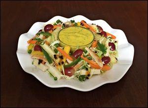 Salada Tropical Light ao Molho de Maracujá