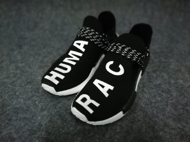 Adidas Human Race NMD Unisex shoes Black White ,buy discount $60  WhatsApp:8613328373859