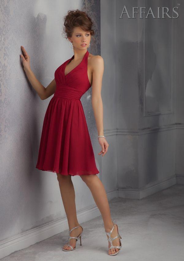 Short Bridesmaids Dress From Affairs By Mori Lee Dress Style 31045 Chiffon Bridesmaid Dress