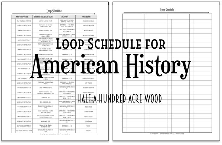 What is a loop schedule? And... a free CC Cycle 3 loop schedule (or an American history loop schedule for those not in Classical Conversations).