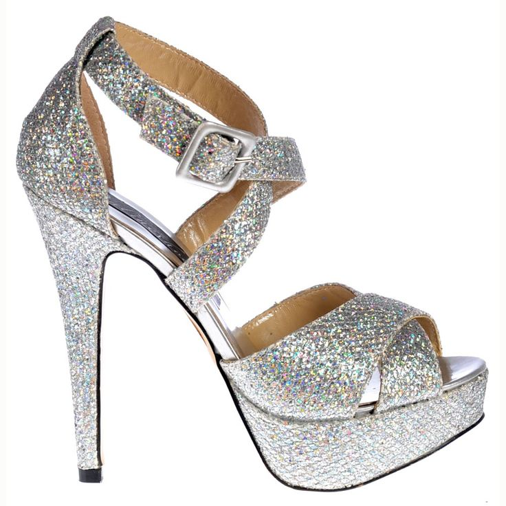 Silver Glitter High Heel Shoes | Homecoming 2017 | Pinterest ...