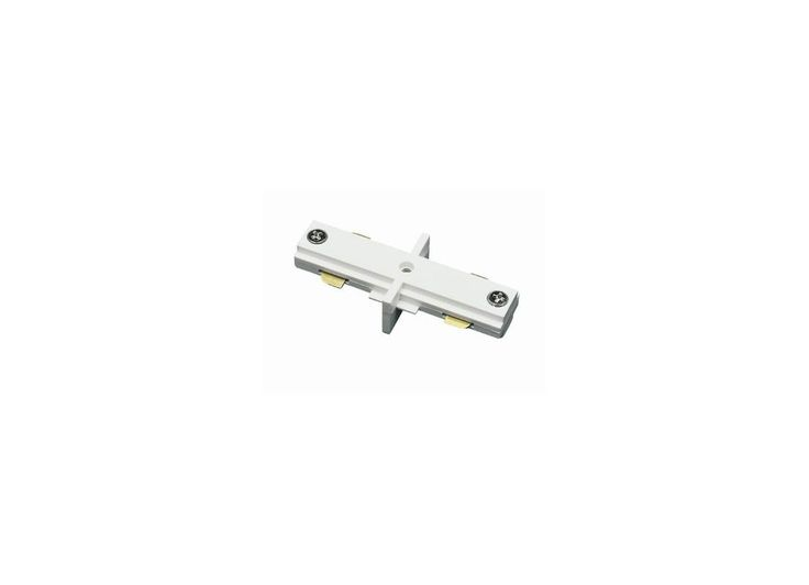 Cal Lighting HT-286 Straight Connector without Power Entry for HT Track Systems Frosted White Indoor Lighting Track Lighting Accessories