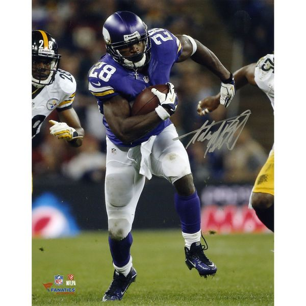 "Adrian Peterson Minnesota Vikings Fanatics Authentic Autographed 8"" x 10"" Running vs. Pittsburgh Steelers Photograph - $169.99"
