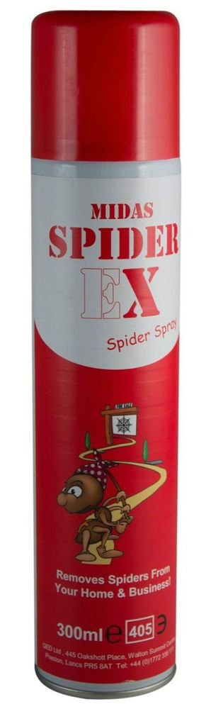 Dont like spiders? Hate getting rid of spiders? Use spiderex to stop them altogether. Used by professionals to keep spiders off CCTV Cameras, this easy to use spray is also used by thousands of householders to keep those pesky spiders away.