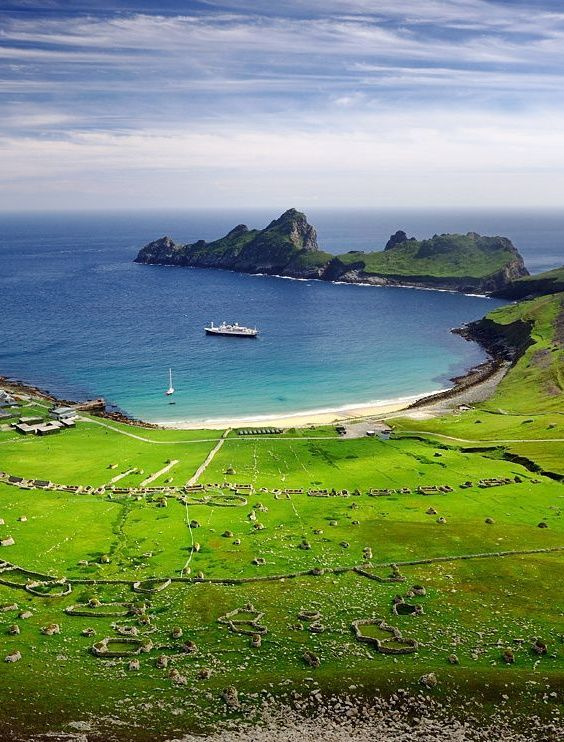 St Kilda is an isolated archipelago 64 kilometres  west-northwest of North Uist in the North Atlantic Ocean. It contains the westernmost islands of the Outer Hebrides of Scotland. The largest islan...