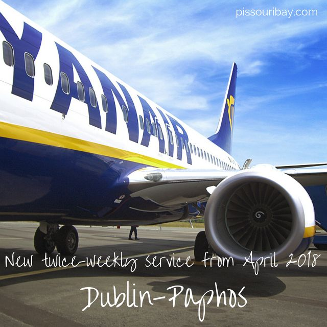 ★ Ryanair announce a new Dublin - Paphos route ★ Twice weekly next summer from April 2018. Book online from Sept. Paphos Sept 2017 late deals: Flights from Paphos from €26.99 for travel in Sept 2017 - book before midnight on Thurs Aug 31. Post: Nikki @ pissouribay.com