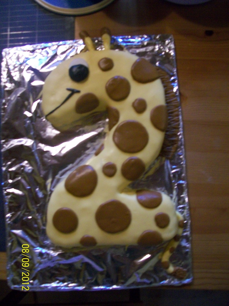Giraffe Cake for Second Birthday Party