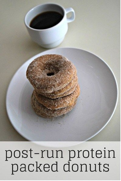 Post-run protein donuts made with Kodiak power cakes
