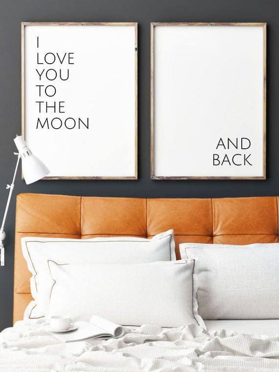 I love you to the moon... and back - Wall Art Set (both posters included) This listing is for a DIGITAL FILE of this artwork. No physical item will be sent. You can print the file at home, at a local print shop or using an online service. SAVE 30% when you buy 3 or more prints! Enter