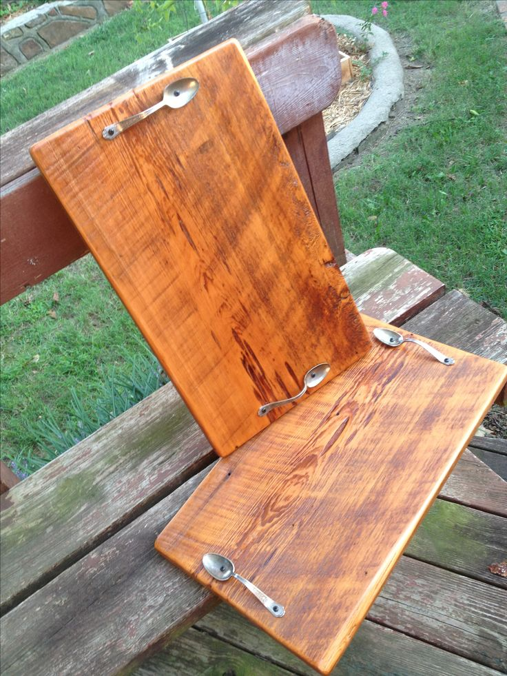 Reclaimed barn wood serving trays I sooo want to make these.