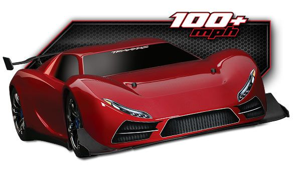 Traxxas X0-1   The World's Fastest Ready-To-Race® Supercar that costs way too much for a toy! :) Suggested Selling Price $1099.99