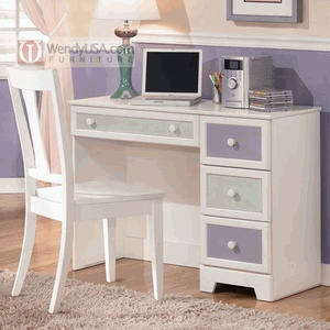 Bedroom computer desks.  A desk is so necessary, love the colors and extra drawer storage!