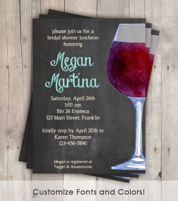 items similar to wine tasting shower invitation chalkboard wine bridal shower wine invitation girls night invitations on etsy