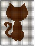 simple cat pattern cross stitch by WhispMI21