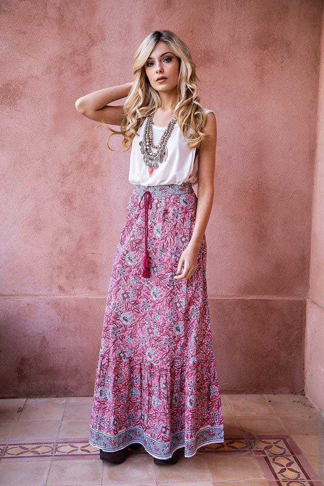 5c362338cb Faldas de moda mujer primavera verano 2019. Moda primavera verano 2019.
