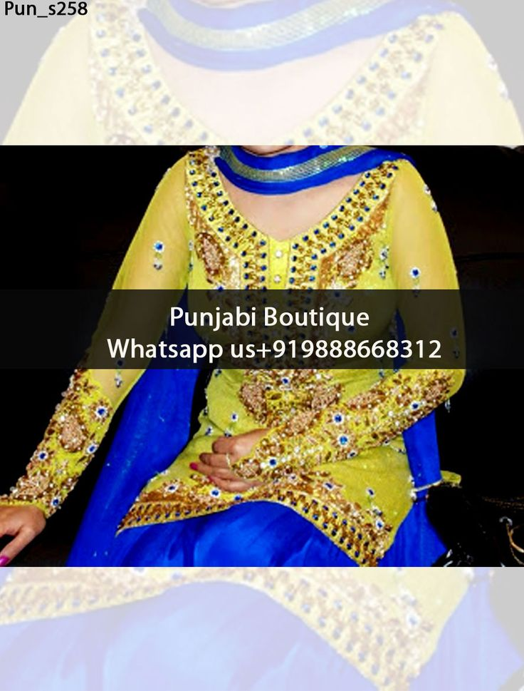 Stunning Olive Green And Blue Punjabi Suit Product Code: Pun_s258 To order this dress , please call or WhatsApp us at +919888668312 We can design this Punjabi Suit in any color combination or on any fabric (price may vary according to fabric)