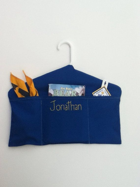 Scout Uniform Hanger Hanging Organizer - Keep Your Scout Organized - Personalized with Scouts Name