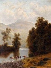 Пейзаж разное, Меллор Уильям, Около аббатства Болтон, Йоркшир, Англия