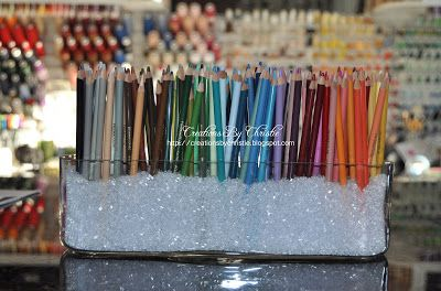 OMG!!! I created the most stylish and useful way to not only have easy access to my colored pencils but to display them as well! I have been...